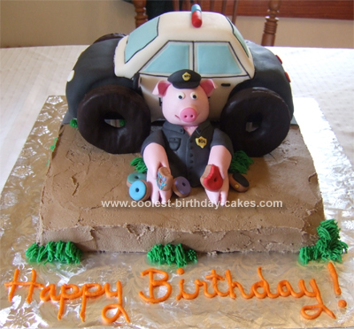 Fantastic Coolest Police Cake Funny Birthday Cards Online Alyptdamsfinfo