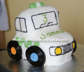 Homemade Police Car Birthday Cake