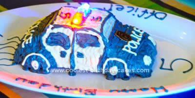 Homemade Police Car Cake
