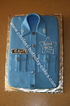 Homemade Police Shirt Cake