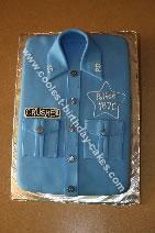 Homemade Police Shirt Cake