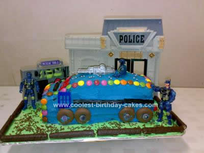 Homemade Police Van Cake
