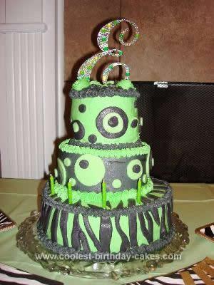 Stupendous Coolest Polka Dot And Zebra Print Birthday Cake Personalised Birthday Cards Veneteletsinfo