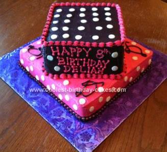 Homemade Polka Dot Birthday Cake