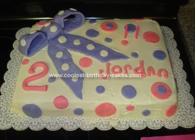 Homemade Polka Dot Birthday Cake