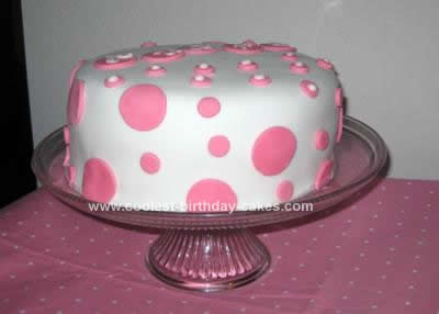Homemade Polka Dot Cake