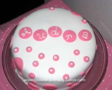 Homemade Polka Dot Cake