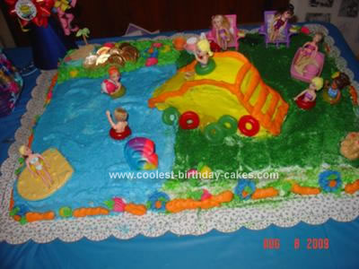 Homemade Polly Pocket Birthday Cake