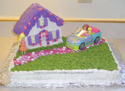 Homemade Polly Pockets Cake