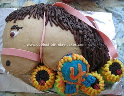 Homemade Pony Birthday Cake
