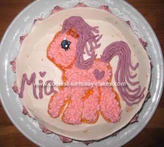 Homemade Pony Cake