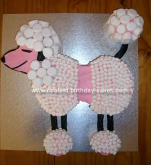 Homemade Poodle Birthday Cake