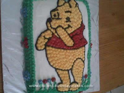 Homemade Pooh Bear Cake