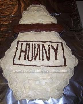 Homemade Pooh Hunny Pot Cupcake Birthday Cake