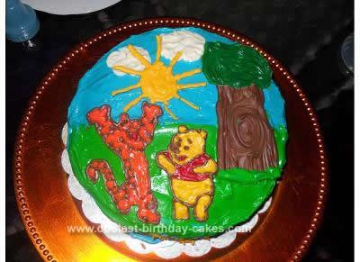 Homemade Pooh & Tigger Cake