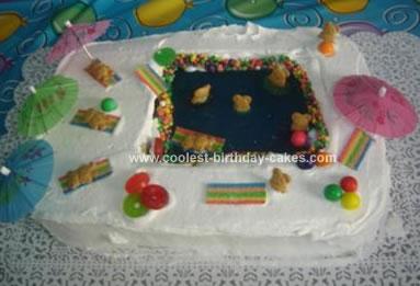 Homemade Pool Cake