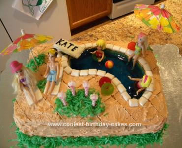 Coolest Pool Party Birthday Cake