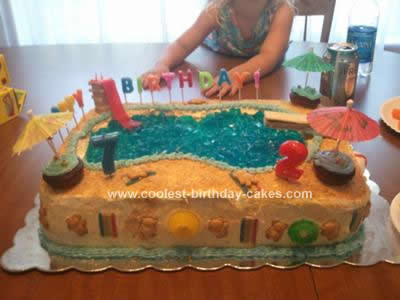 Remarkable Coolest Pool Party Birthday Cake Funny Birthday Cards Online Barepcheapnameinfo