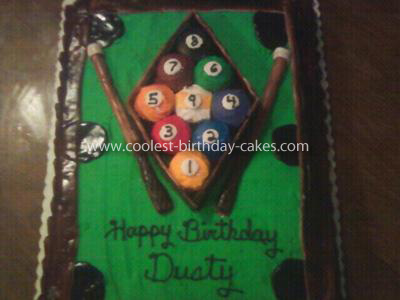 Homemade Pool Table Cake