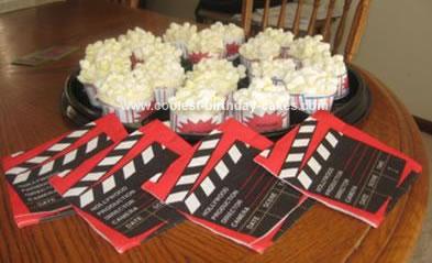 Homemade Popcorn Bags Birthday Cupcakes