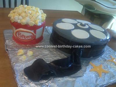 Homemade Popcorn Birthday Cake