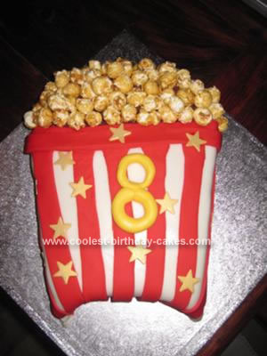 Terrific Coolest Popcorn Birthday Cake Funny Birthday Cards Online Fluifree Goldxyz