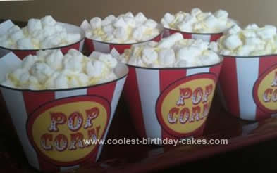 Homemade Popcorn Box Cupcakes