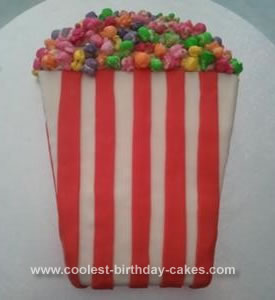 Homemade Popcorn Bucket Cake