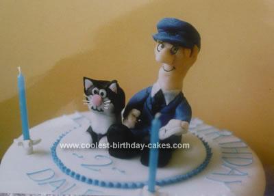 Homemade Postman Pat Birthday Cake