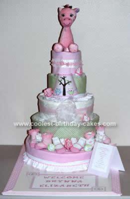 "Homemade Pottery Barn ""Hayley"" Diaper Cake"