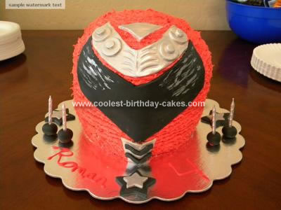 Homemade Power Ranger Birthday Cake