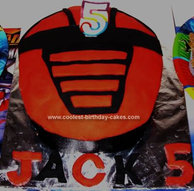 Homemade Power Ranger Cake