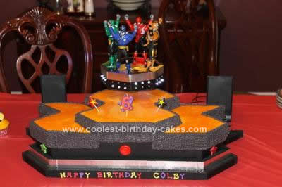 Outstanding Coolest Power Rangers Birthday Cake Personalised Birthday Cards Veneteletsinfo