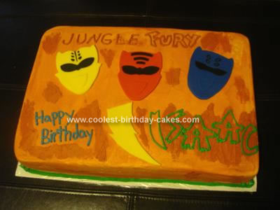 Homemade Power Rangers Cake