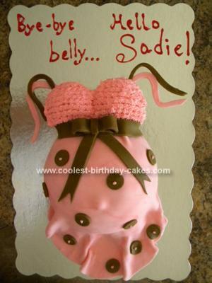 Homemade Pregnant Belly Baby Shower Cake