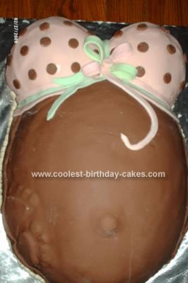 Homemade Pregnant Belly Cake