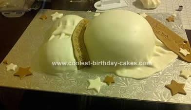 Homemade Pregnant Belly Cake