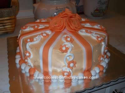Homemade Present Birthday Cake