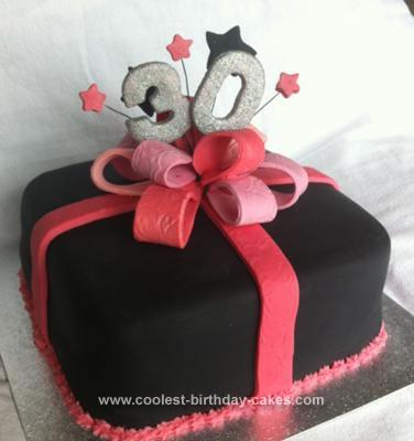 Homemade Present Cake