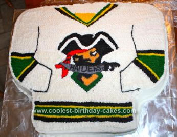 Homemade  Prince Albert Raider Hockey Cake