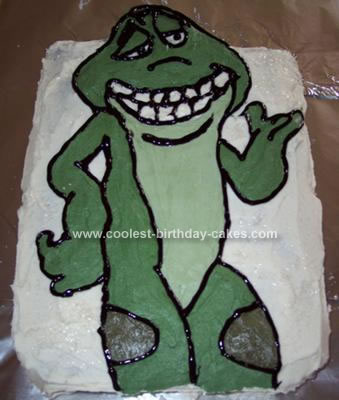 Homemade Prince Naveen Frog Cake