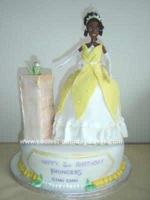 Homemade Princess and the Frog Birthday Cake
