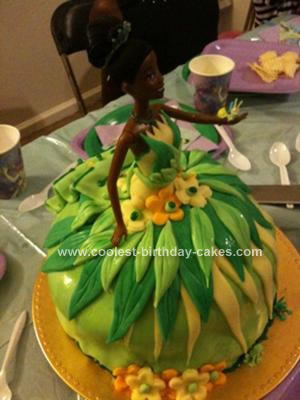 Homemade Princess and The Frog Birthday Cake