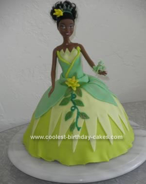 Homemade Princess and the Frog Cake
