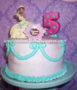 Homemade  Princess and the Frog Princess Tiana Birthday Cake