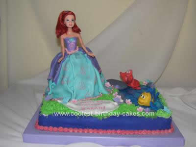 I Made This Princess Ariel Birthday Cake Design For My Daughters 5th She Had Wanted A Theme And Chose