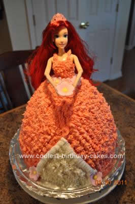 Homemade Princess Ariel Birthday Cake Design