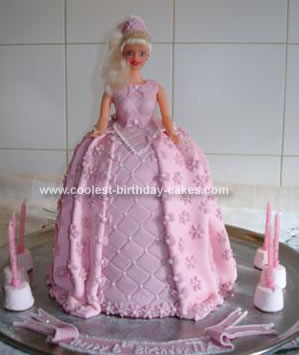 Homemade Princess Barbie Cake