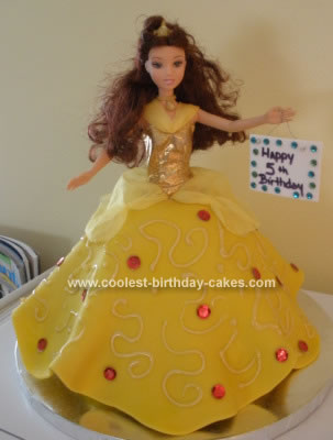 Excellent Coolest Princess Belle Birthday Cake Personalised Birthday Cards Paralily Jamesorg