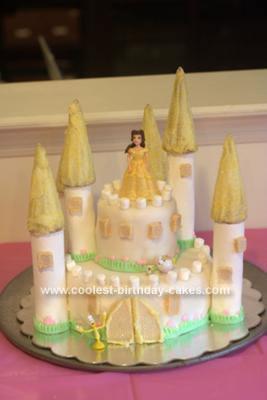Phenomenal Coolest Princess Belle Castle Cake Funny Birthday Cards Online Kookostrdamsfinfo